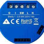 Shelly 1, mini interruptor Wifi para convertir tu interruptor convencional para se compatible con Amazon Alexa