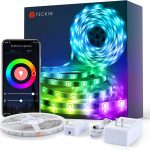Meross tira LED Wi-Fi RGB 5M IP20, 12V, Admite DIY. Compatible con Amazon Alexa.