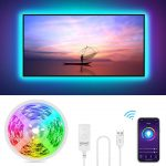 Gosund Tira Led Wifi USB para TV/PC, Sincronizar con Música, Compatible con Alexa. Tiene control Remoto para Ajustar Multicolores y Brillo, Retroiluminación LED RGB Inteligente con 8 modos de escenas