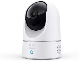 eufy 2K cámara IP wifi de vigilancia para interiores, pan-tilt 360º enchufable, reconocimiento de personas, compatible con Amazon Alexa