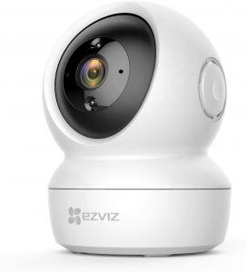 EZVIZ C6N Camara IP WiFi de vigilancia. FHD 1080P. Cámara Domo Interior 360º. PTZ. Vision Nocturna, deteccion de Movimiento, Audio bidireccional. Compatible con Alexa