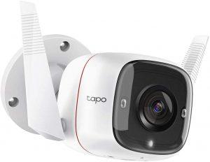 TP-Link TAPO - 1296Px Camara Vigilancia wifi Exterior / Interior, IP66 con Visión Nocturna, Detección de Movimiento y Alarma Instantánea, compatible con Amazon Alexa