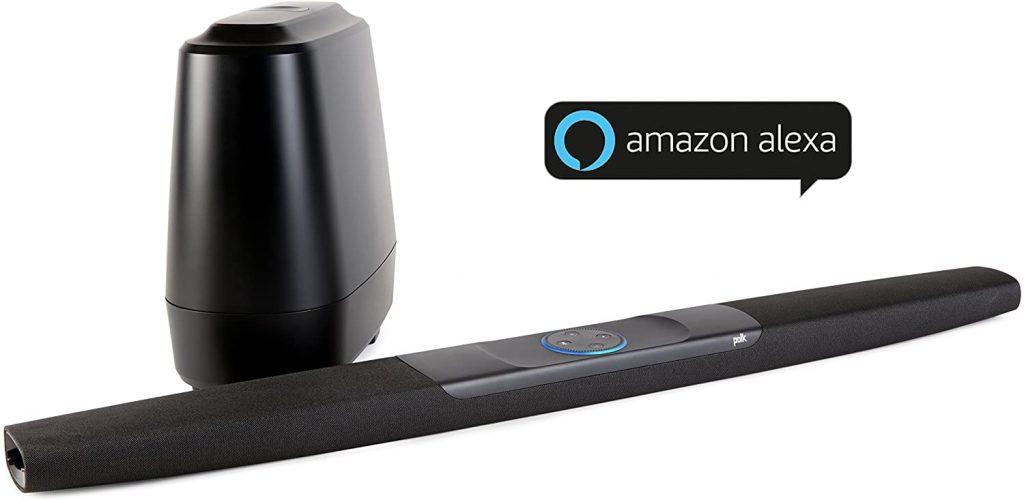 Barra sonido compatible Alexa Polk comand bar. Conecta el televisor con un único cable gracias a HDMI. Conectividad Bluetooth para la transmisión inalámbrica de audio. Compatibilidad con mando a distancia de TV integrada. Muy fácil de instalar la barra de sonido en la pared para ahorrar espacio.