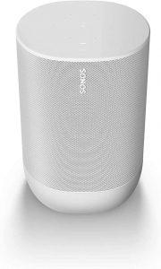 Sonos Move Smart Speaker (Resistente al Agua WLAN y Bluetooth Altavoz con Control por Voz Alexa – Inalámbrico, con batería para Streaming de música), Color Blanco