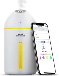 meross Humidificador Inteligente, 320ML, Purificador de Aire con LED, con Control Remoto App, Compatible con Alexa