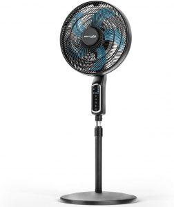 RelaxxNow 2en1 Ventilador de Pie 55W Muy Silencioso 43 dB  Pantalla Táctil LED + Ventilador de Mesa con Mando   VTX200 Oscilación e Inclinación de 60 App Amazon Alexa