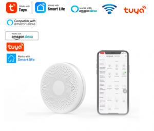 Tuya WiFi Detector de humo compatible con Amazon Alexa
