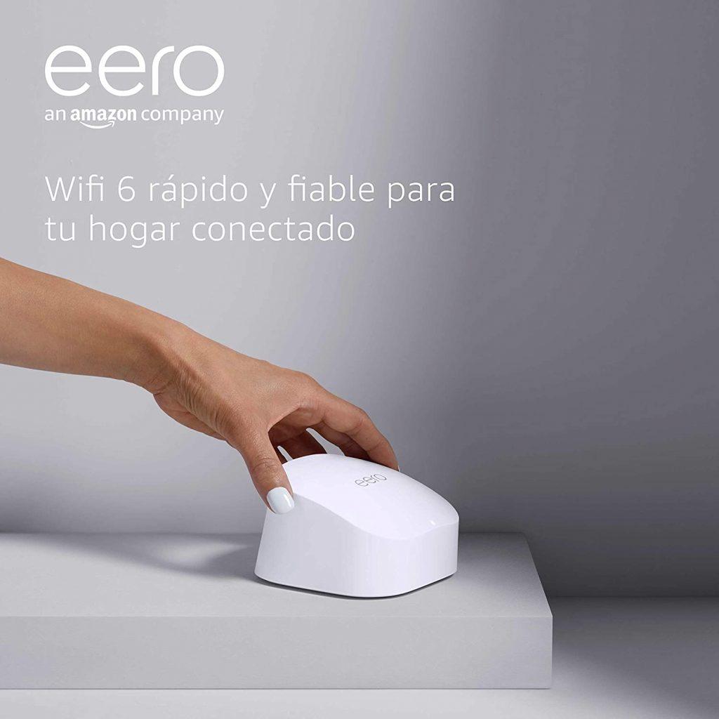 Nuevo | Sistema Wi-Fi 6 de malla de doble banda Amazon Alexa eero 6, con controlador de Hogar digital inteligente Zigbee integrado